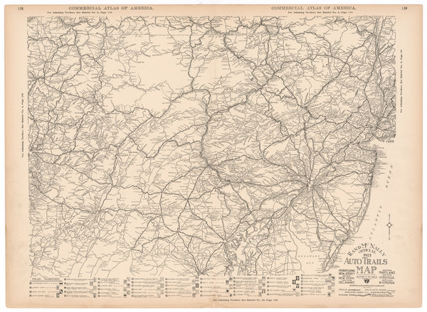 American Auto Trails Map District 07 (Mid-Atlantic Region) 1921