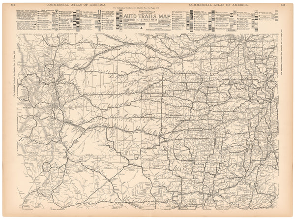 American Auto Trails Map District 12 (Central Plains Region) 1921