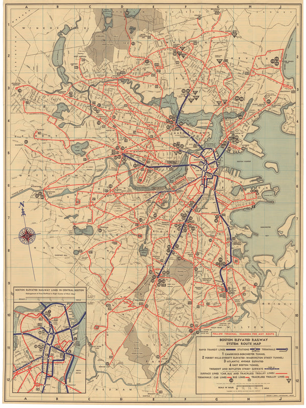 1937 BERy System Map No. 2