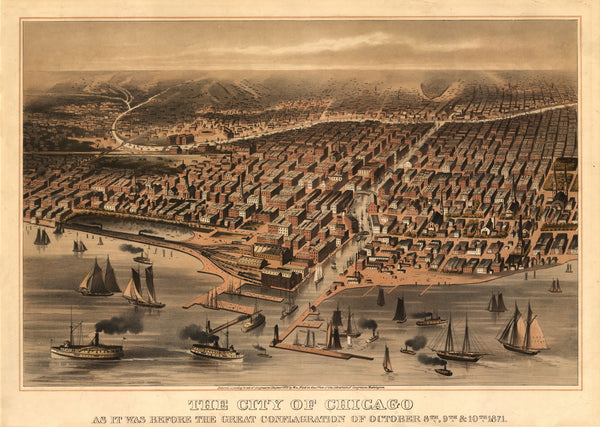 Chicago, Illinois 1871 (Published in 1872)