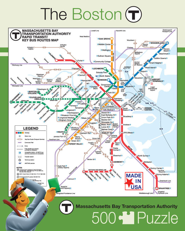 MBTA Map 500 Piece Puzzle