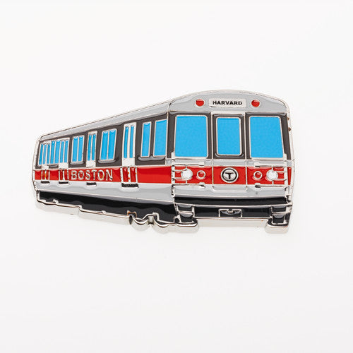 MBTA Red Line Subway Car Metal Magnet