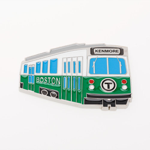 MBTA Green Line Trolley Metal Magnet