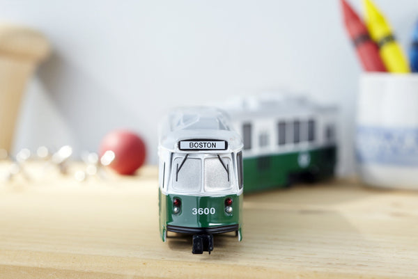 Double MBTA Die Cast Trolley Car