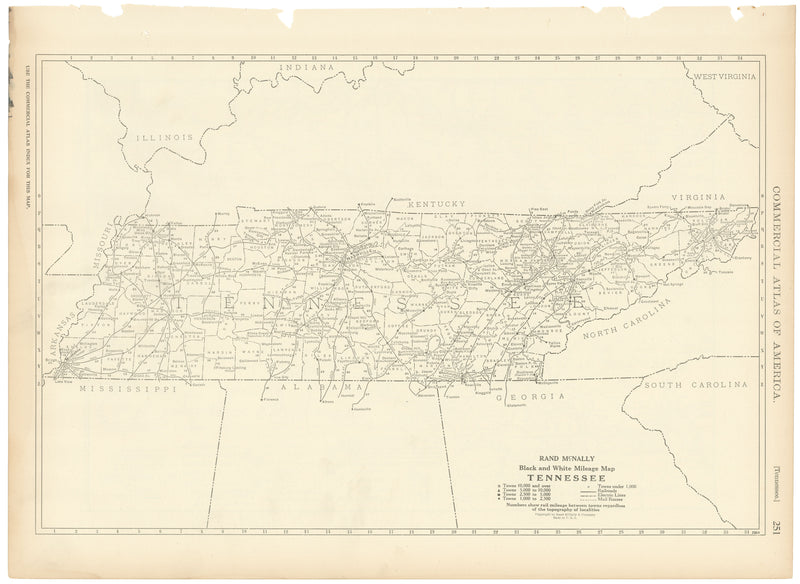 Tennessee 1925: Mileage Map