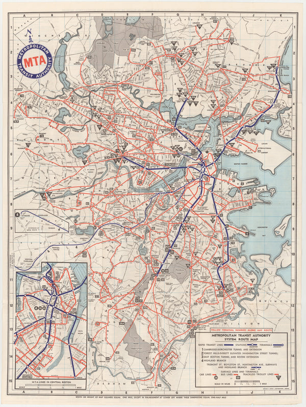 1959 MTA System Map