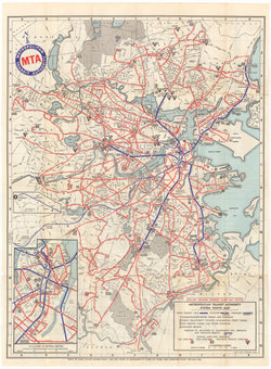 1961 MTA System Map
