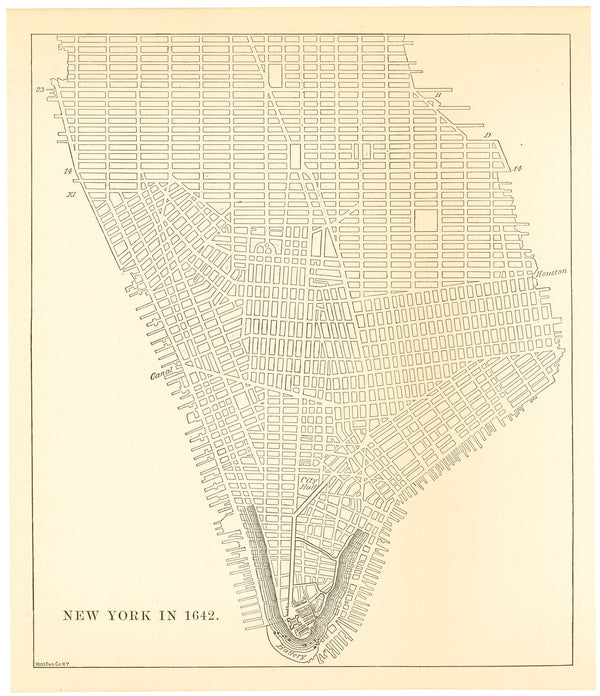 New York, New York 1880 with Overlay of 1642