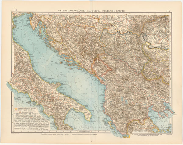 The Balkans 1899: Western Portion