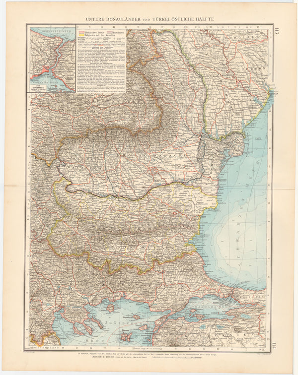 The Balkans 1899: Eastern Portion