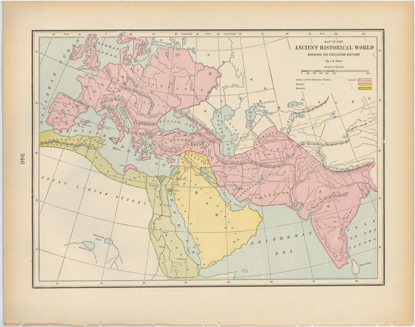 Classical Map 1894: Ancient Historical World