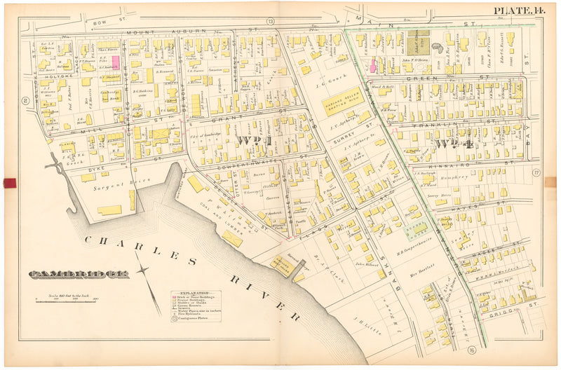 Cambridge, Massachusetts 1886 Plate 014