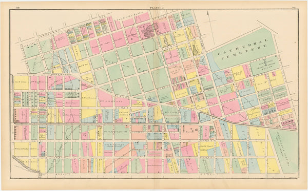 West Philadelphia, Pennsylvania 1872 Plate J
