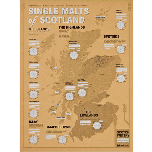 Scotch Tasting Map: Single Malts of Scotland
