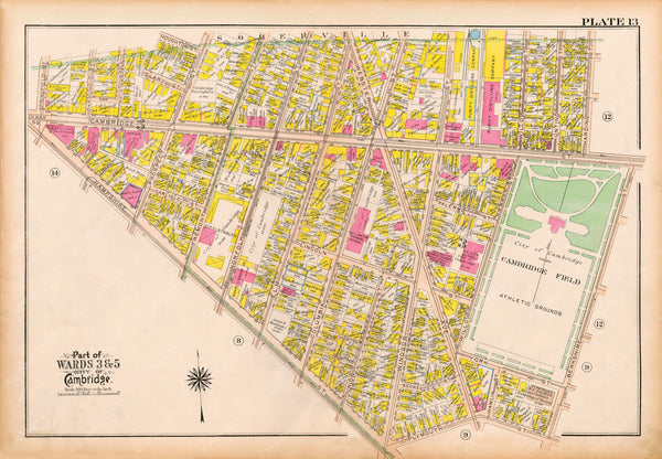 Cambridge, Massachusetts 1916 Plate 013
