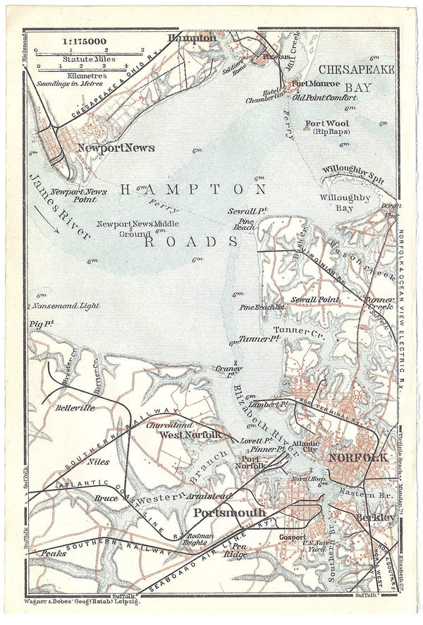 Hampton Roads, Virginia 1909