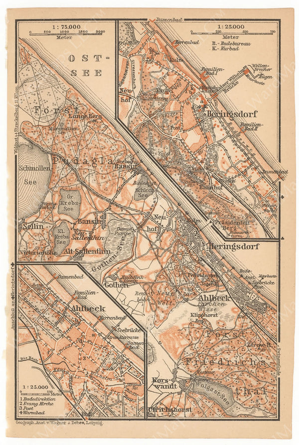 Ahlbeck and Heringsdorf, Germany 1913