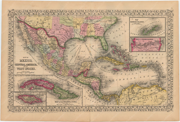 Central America, Mexico, and West Indies 1867