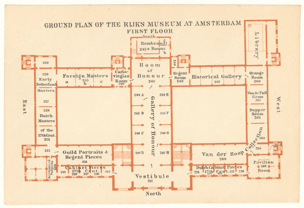 Amsterdam, Netherlands 1910: Rijksmuseum (Second Floor)