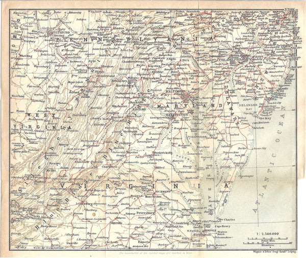 Mid-Atlantic States 1909