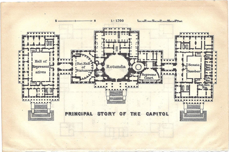 Plan of the U.S. Capitol 1909