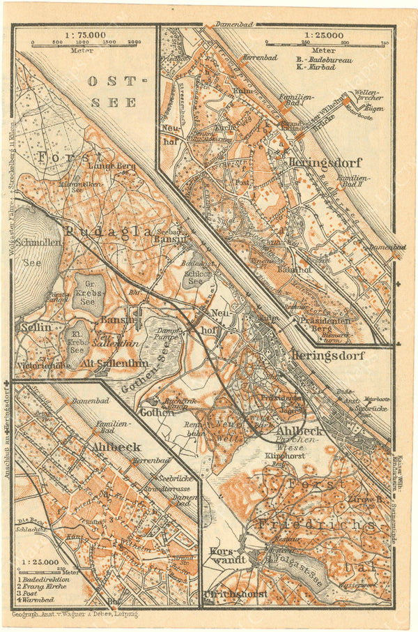 Ahlbeck and Heringsdorf, Germany 1925