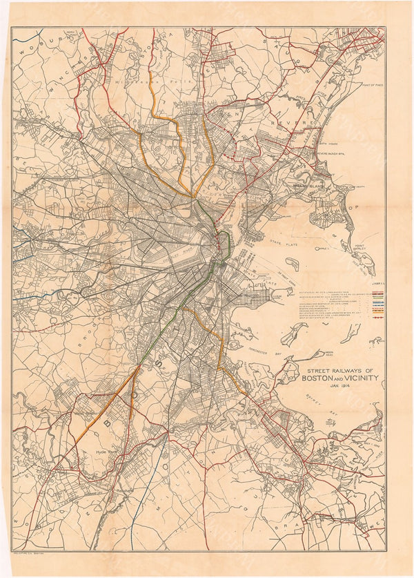 Street Railways of Boston (Massachusetts) and Vicinity January 1914