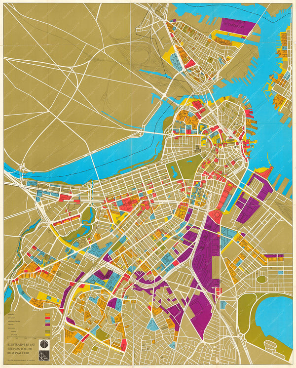 Boston, Massachusetts 1965: Illustrative Re-Use Site Plan for the Regional Core