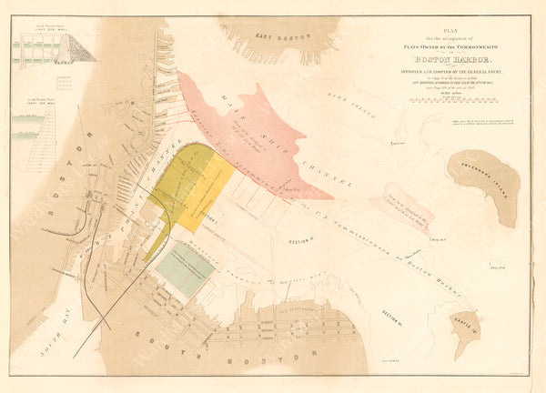 Plan for Occupation of Commonwealth Flats in Boston Harbor, Massachusetts 1868
