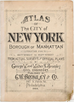 Manhattan, New York 1914, Vol. 4, Title Page