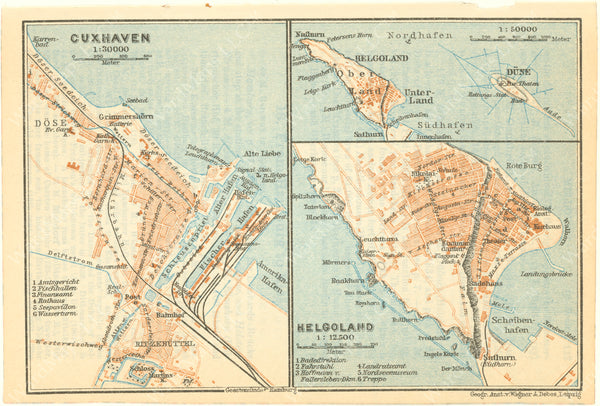 Cuxhaven and Heligoland, Germany 1925