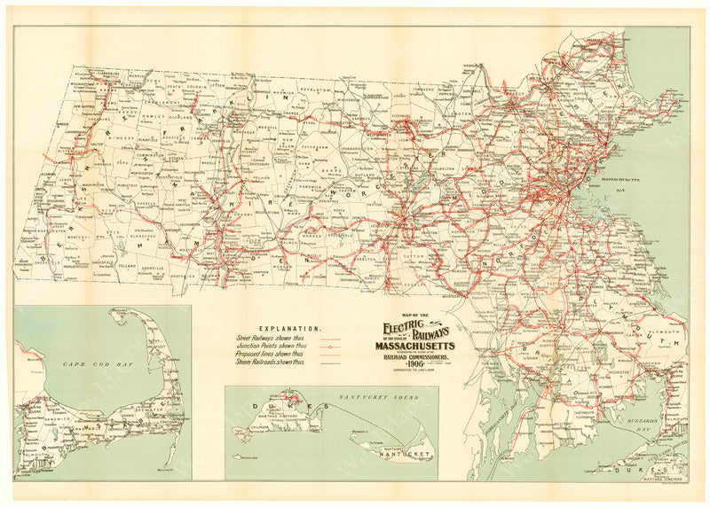 Electric Railways of the State of Massachusetts 1907