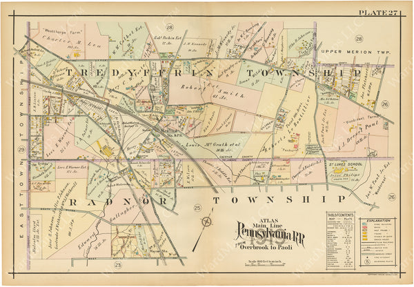 Main Line Properties Overbrook to Paoli, Pennsylvania 1920 Plate 027: Stafford