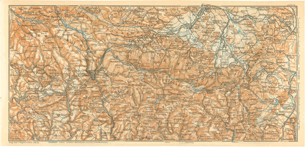 Giant Mountains Region, Czech Republic and Poland 1925