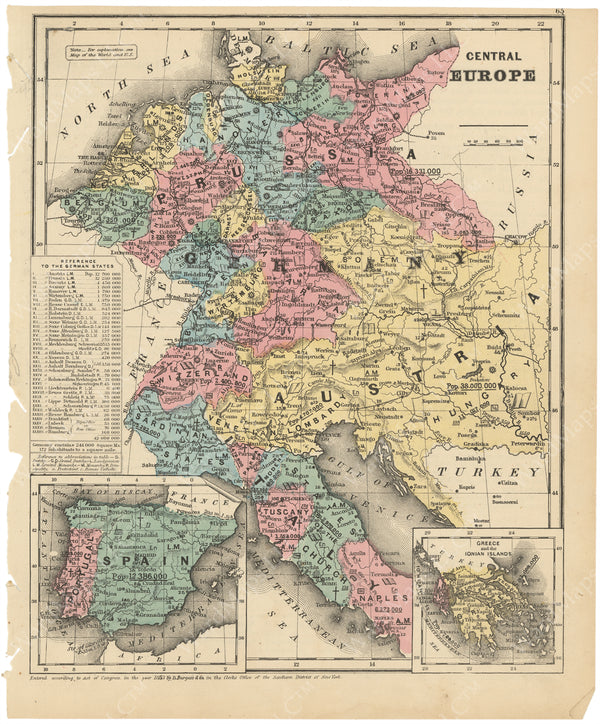 Central Europe 1853