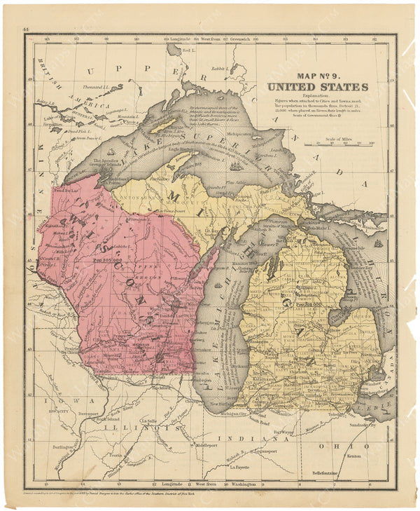 Michigan and Wisconsin 1853