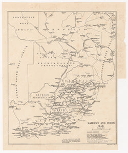 Southern Africa 1911: Railway and Index Map