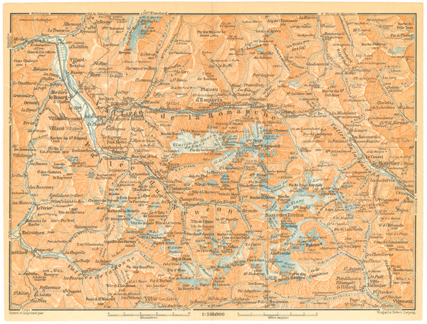 Hautes-Alpes and Isere Departments, France 1907: Ecrins National Park