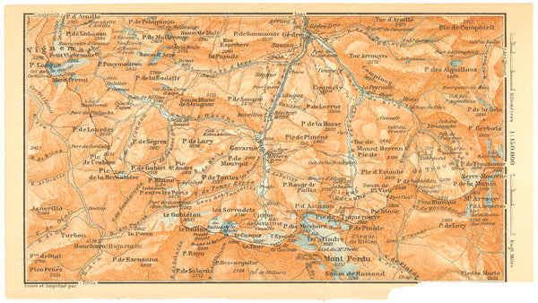 Pyrenees: Gedre, Mt. Vignemale, and Mt. Perdido Region, France and Spain 1907