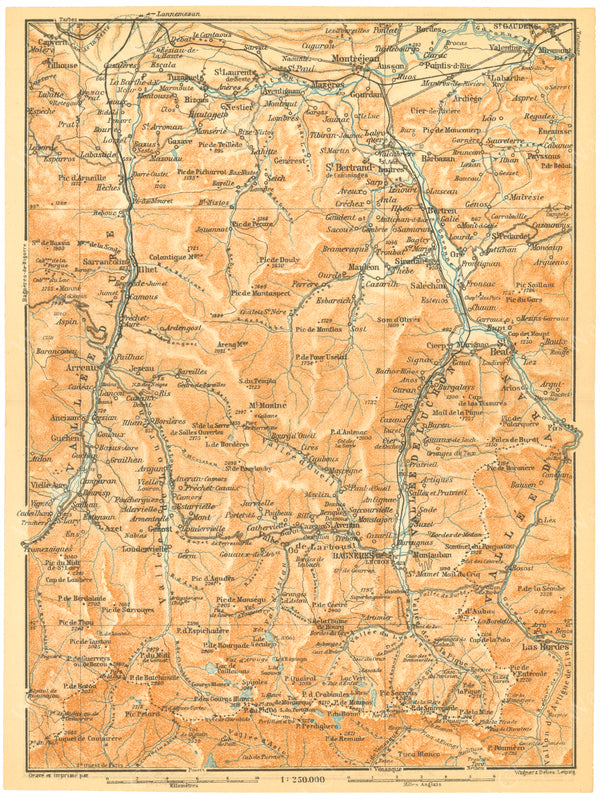 Hautes-Pyrenees and Haute-Garonne Regions (Southern Parts), France 1907