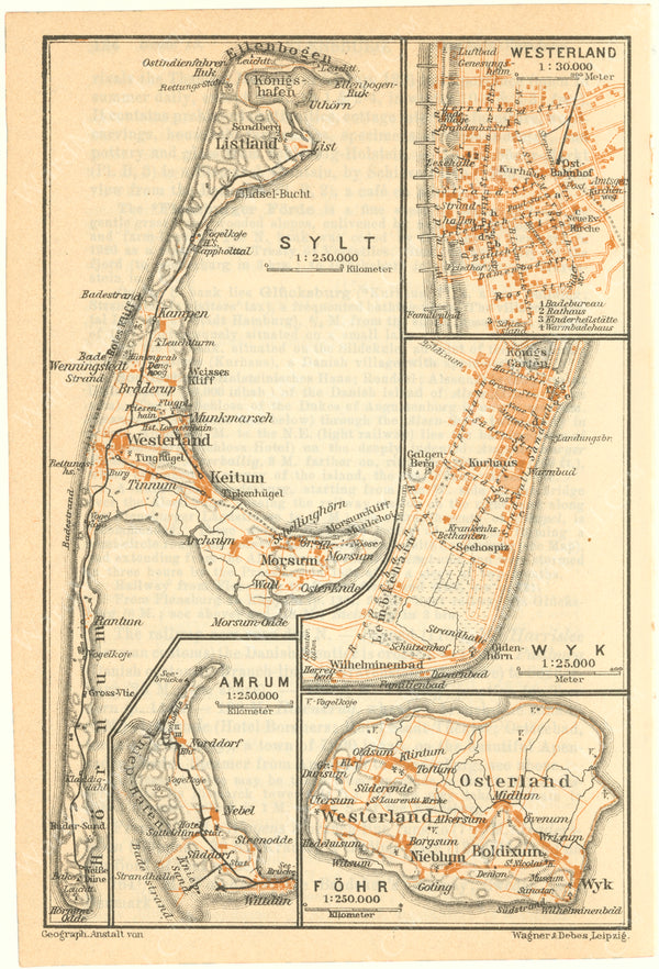 Amrum, Fohr, and Sylt Islands, Germany 1925