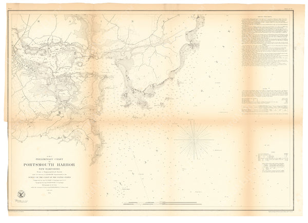USCS Maine and New Hampshire: Portsmouth Harbor 1854