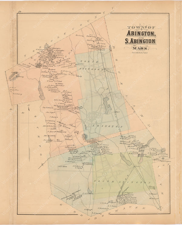 Abington and South Abington, Massachusetts 1879
