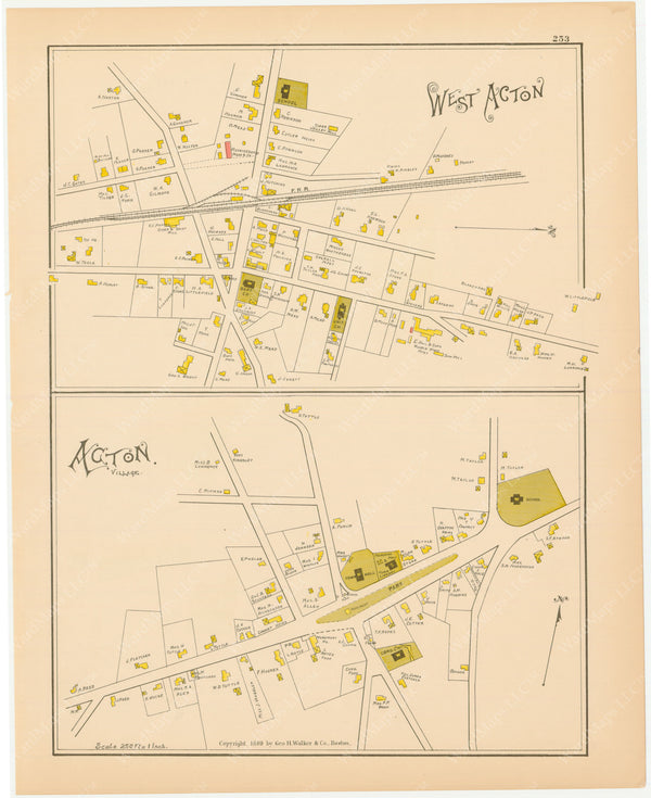 Acton and West Acton, Massachusetts 1889