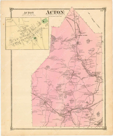 """8/"""" x 24/"""" 1894 Map Of The Lines Of Paterson Passaic /& Rutherford Electric"""