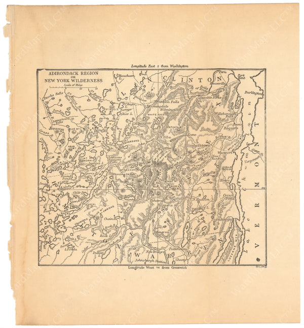 Adirondack Region or New York Wilderness, New York 1887