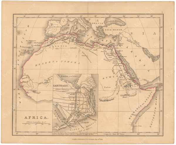Classical Atlas 1849: Africa and Carthage