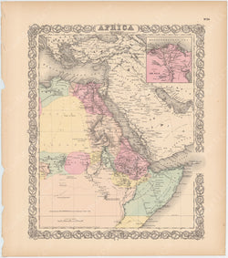 Africa (Northeast Part) 1856