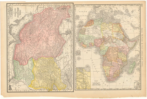 Africa, Afghanistan, Baluchistan, and Persia 1892