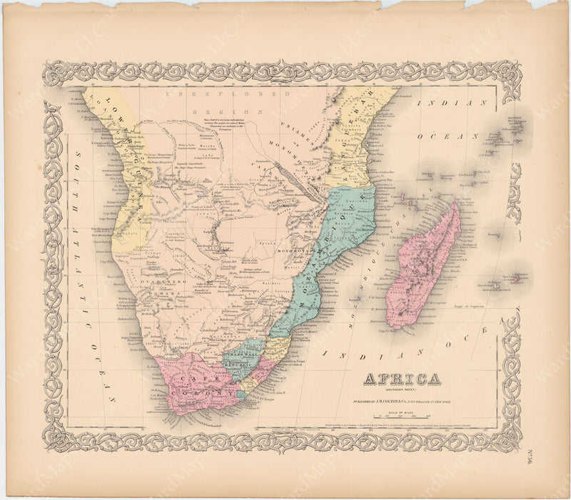 Africa (Southern Part) 1856